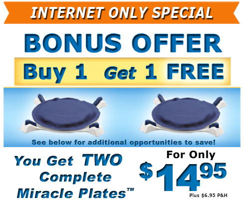 Internet only special, Get 2 Miracle Plates for only $14.95 + $6.95 processing and handling
